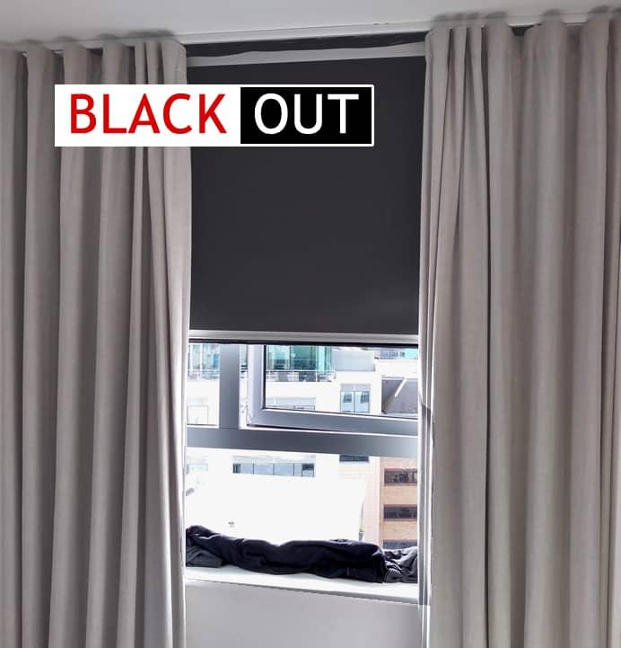 gri renkli blackout perde yıkama